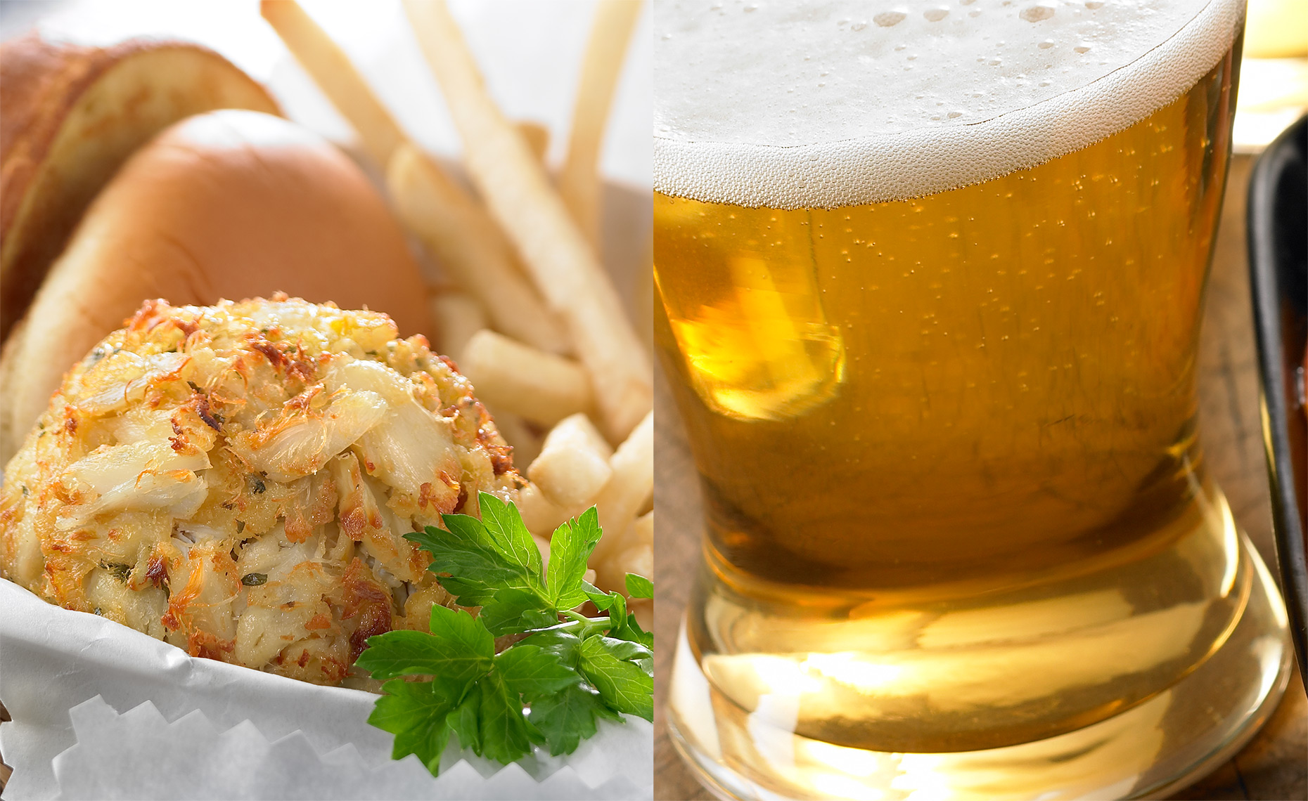 Fast Food Photographer, Burger Photography, Pizza Photography | Pohuski Studios,  Crab Cake Beer