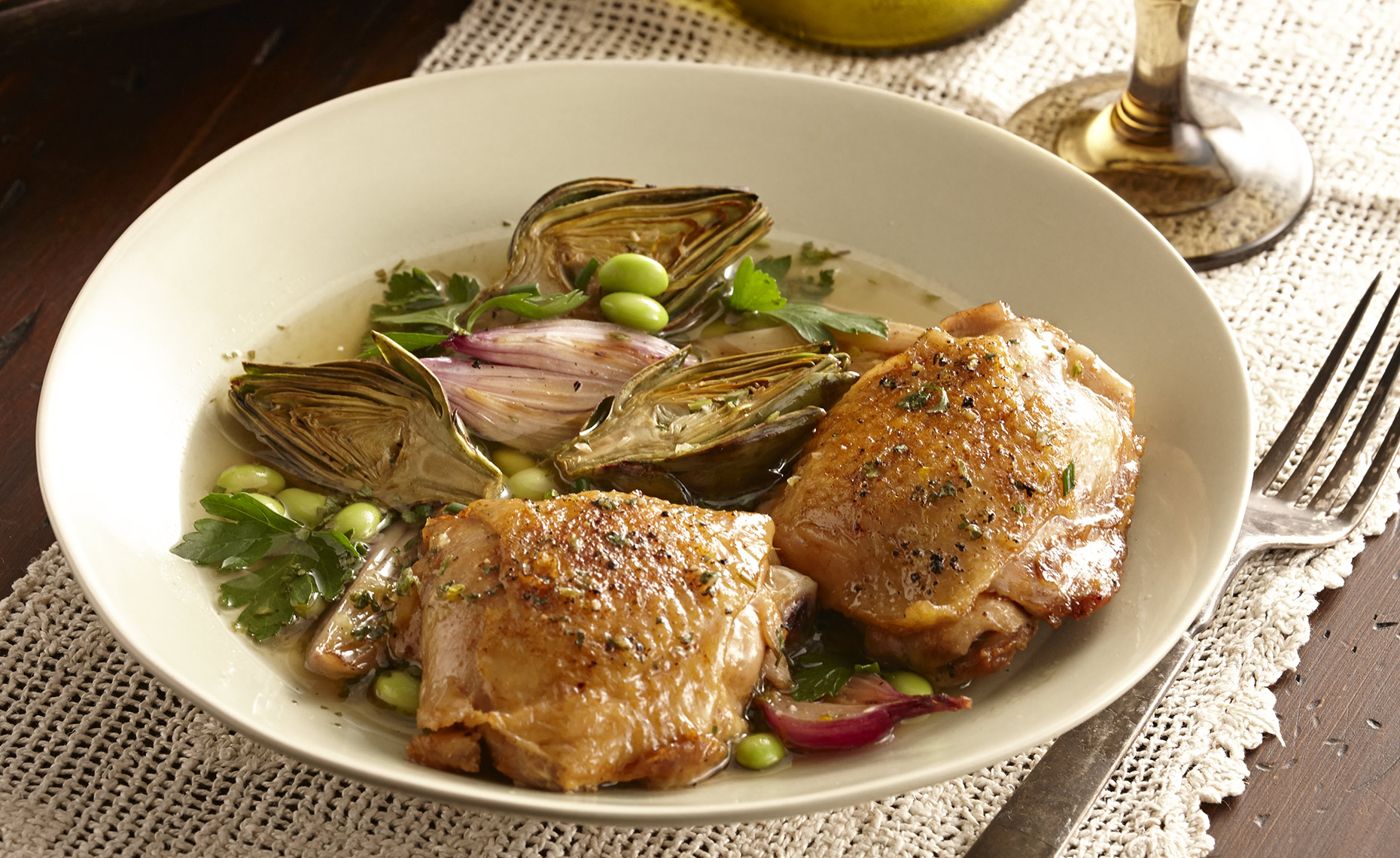 Food Photographer,  Chicken Photography, Poultry Photography | Pohuski Studios,  Braised Chicken Artichokes