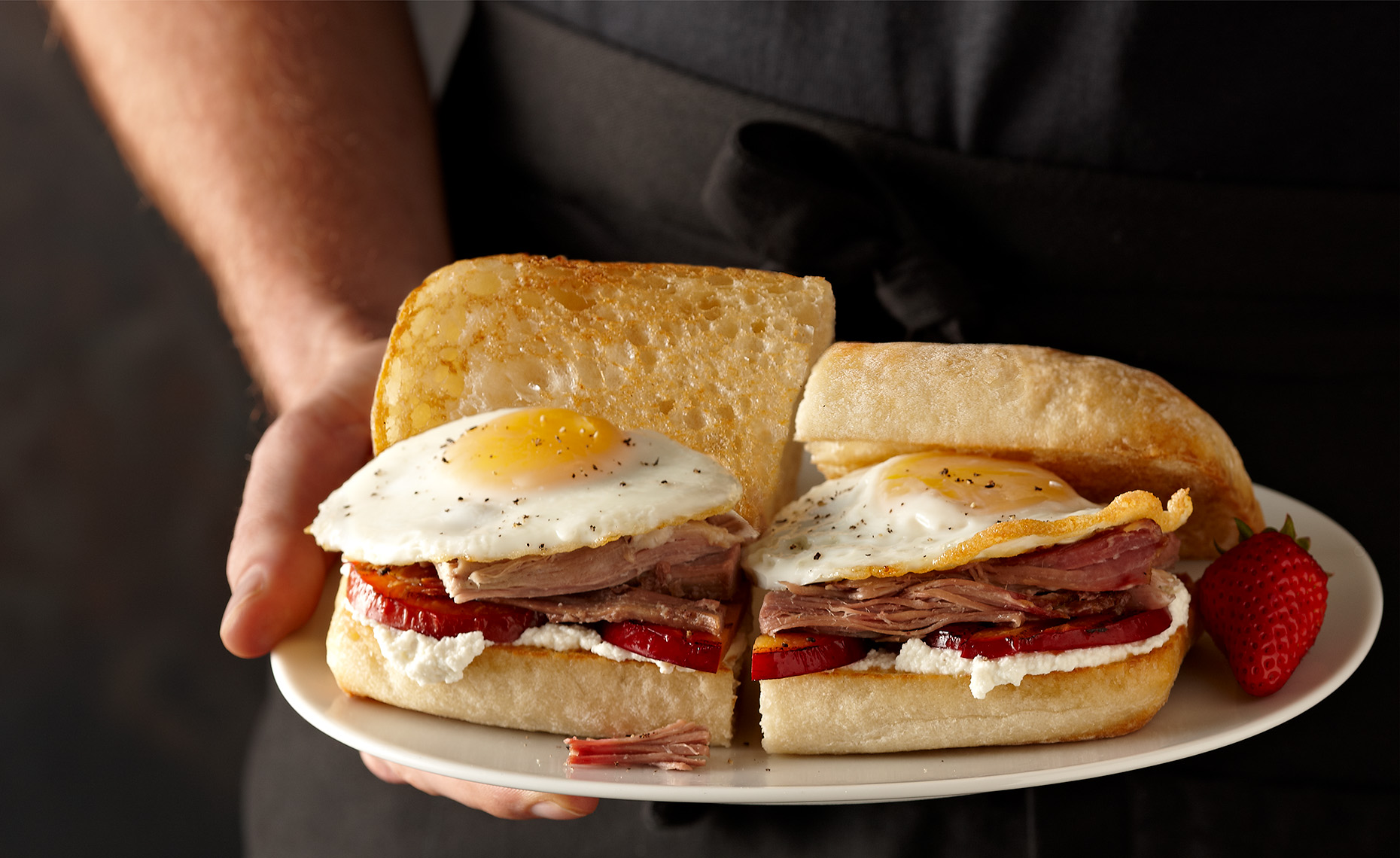 Food Photographer, Fast Food  photography,  Bread photography, Burger photography | Pohuski Studios,  Fried Egg Ham Ciabatta