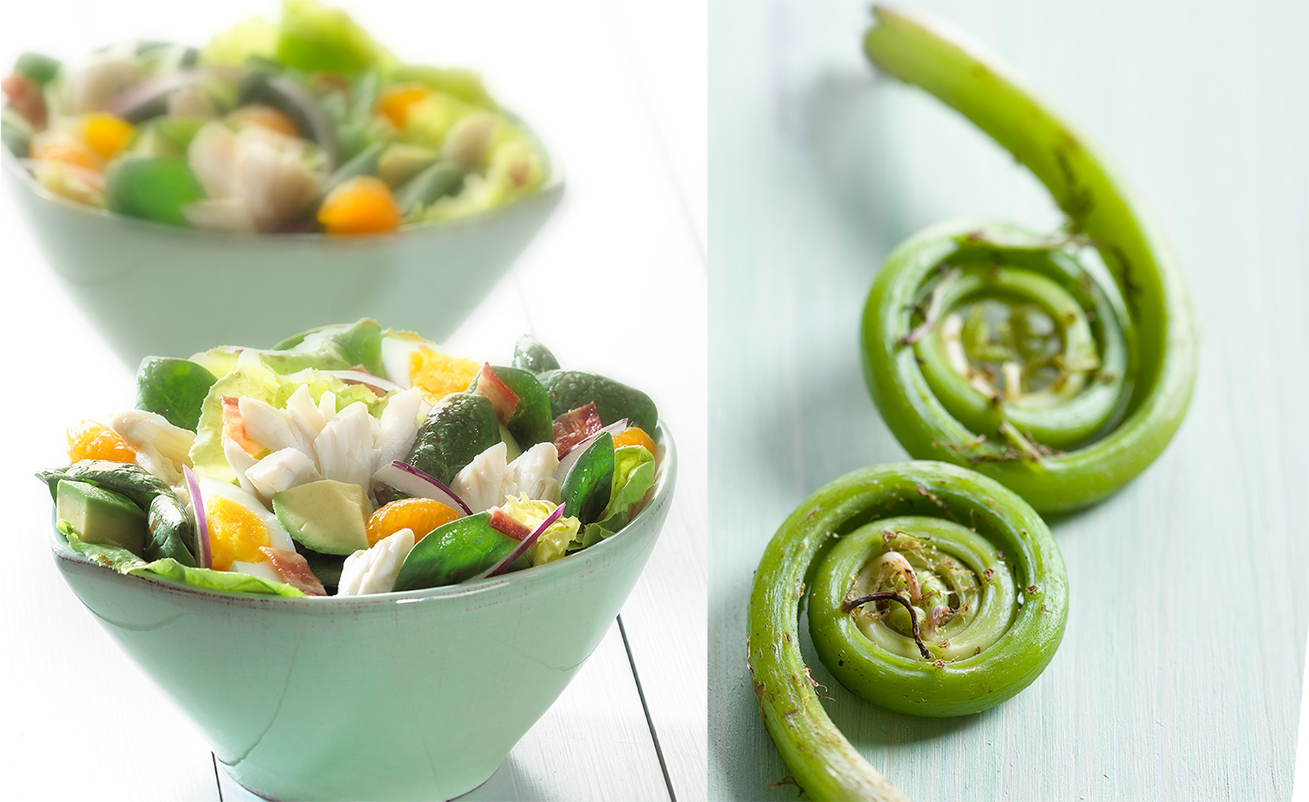 Food Photographer, Vegetable photography, Fruit photography | Pohuski Studios,  Crab Salad Fiddleheads