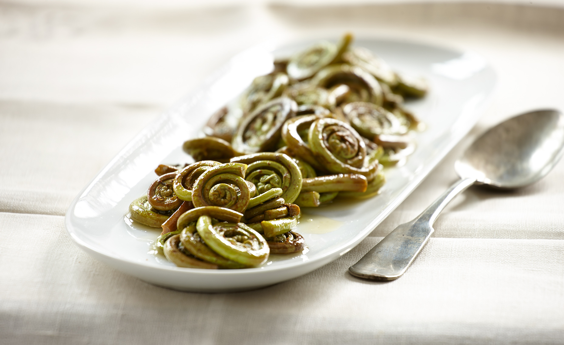 Food Photographer, Vegetable photography, Fruit photography | Pohuski Studios,  Sauteed Fiddleheads