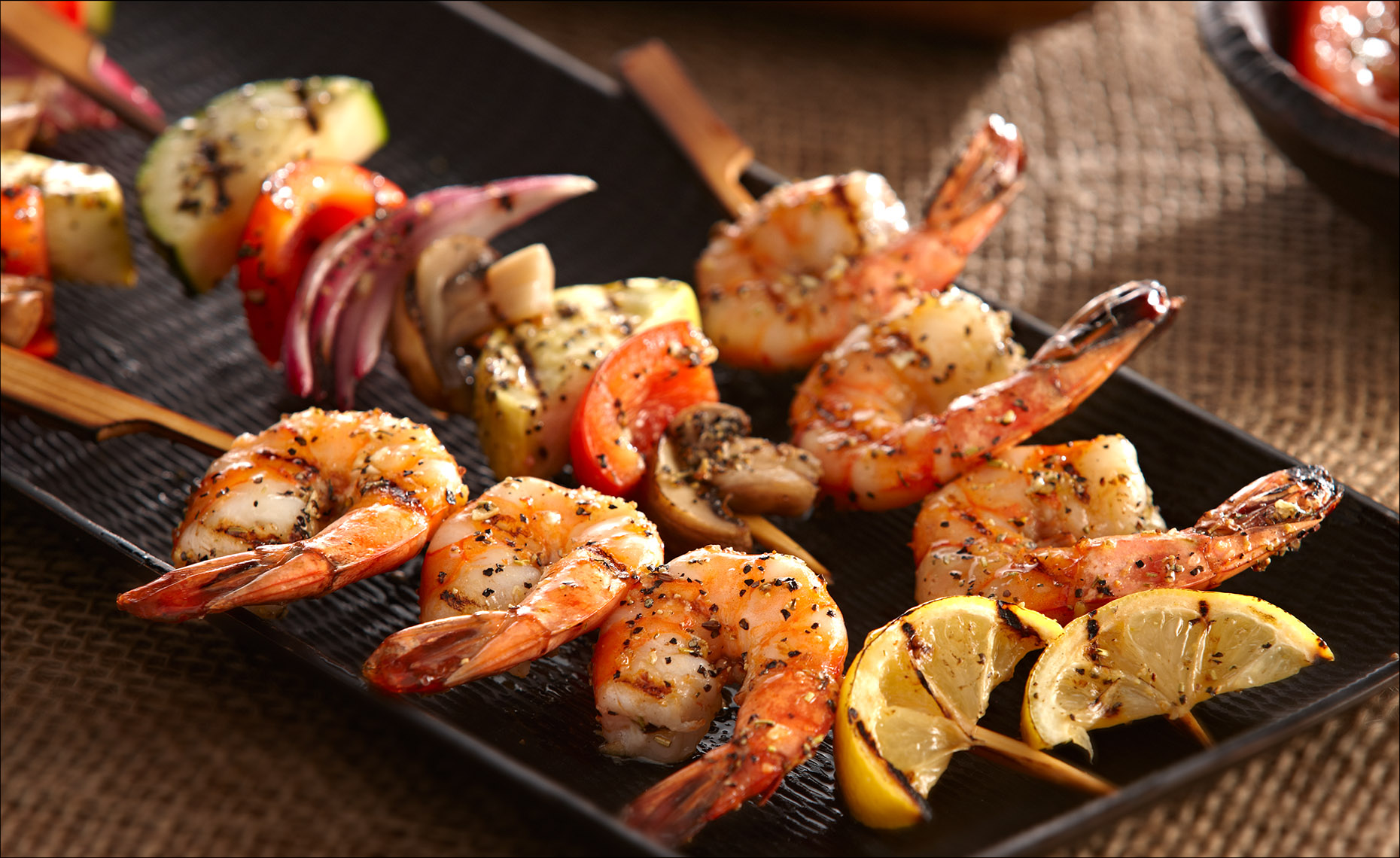 Food Photographer, Seafood Photography | Pohuski Studios,  Grilled Shrimp Kebabs