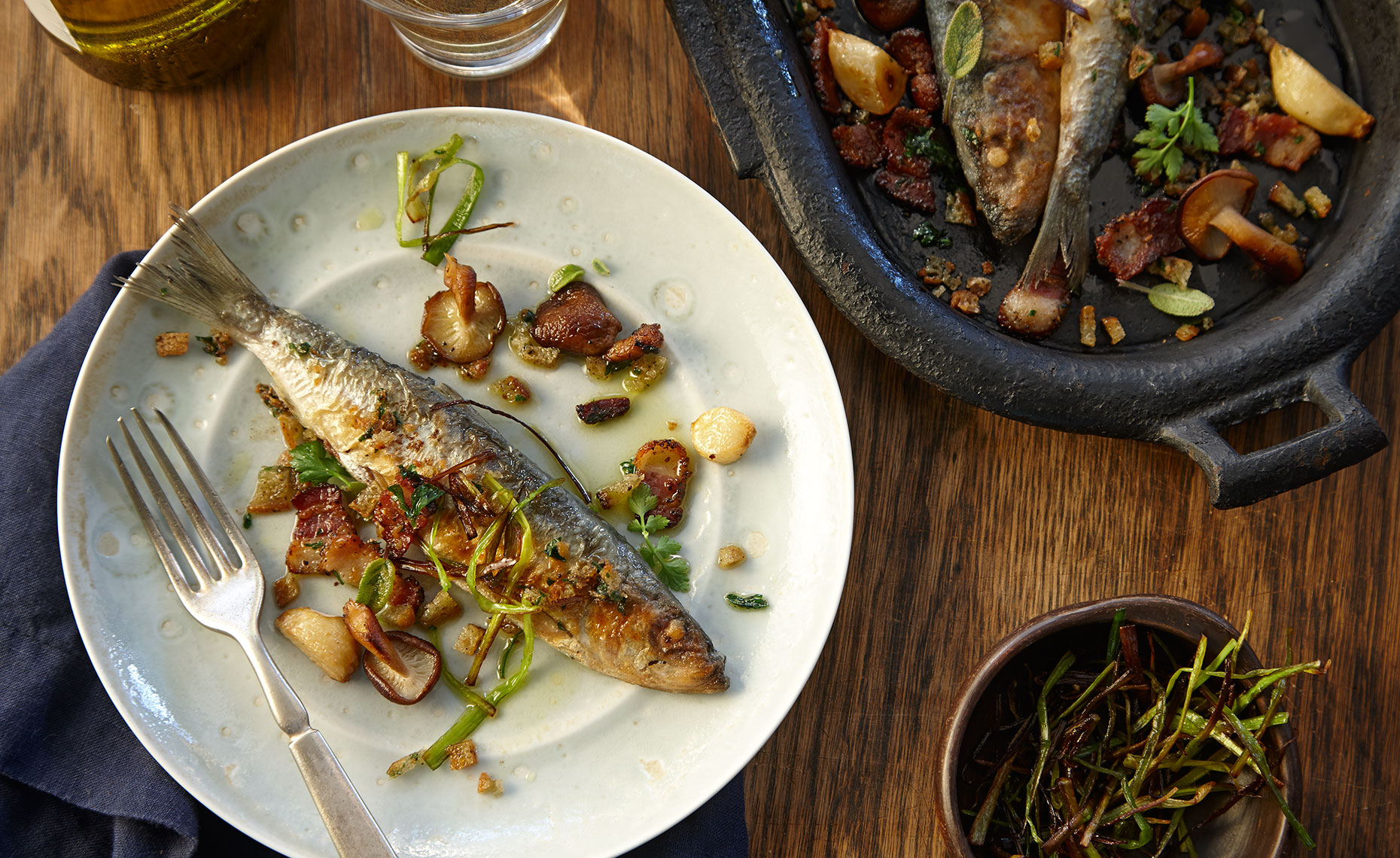 Food Photographer, Seafood Photography | Pohuski Studios,  Grilled Sardines Mushrooms