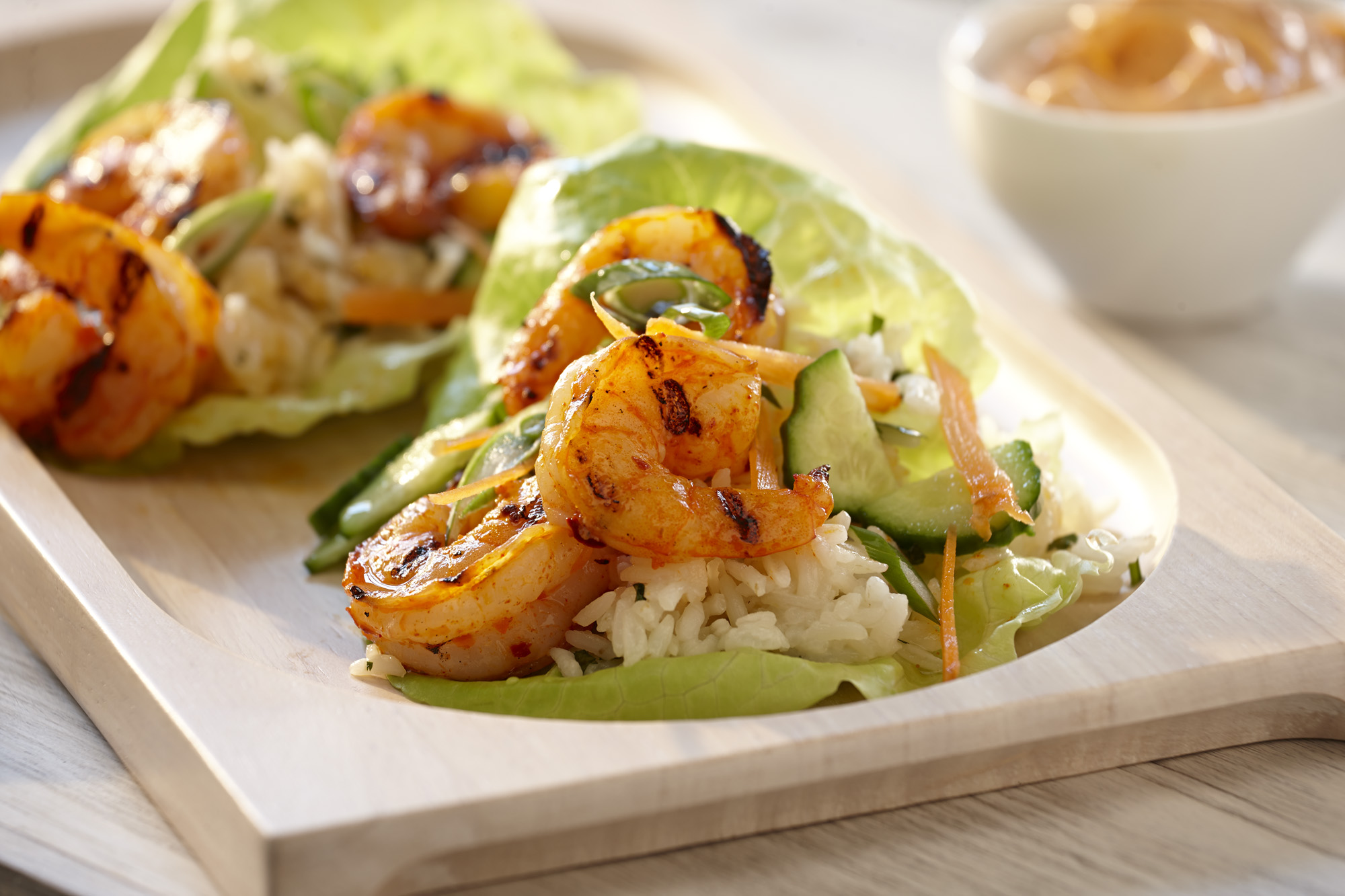 Food Photographer, Seafood Photography | Pohuski Studios,  Shrimp Lettuce Wraps