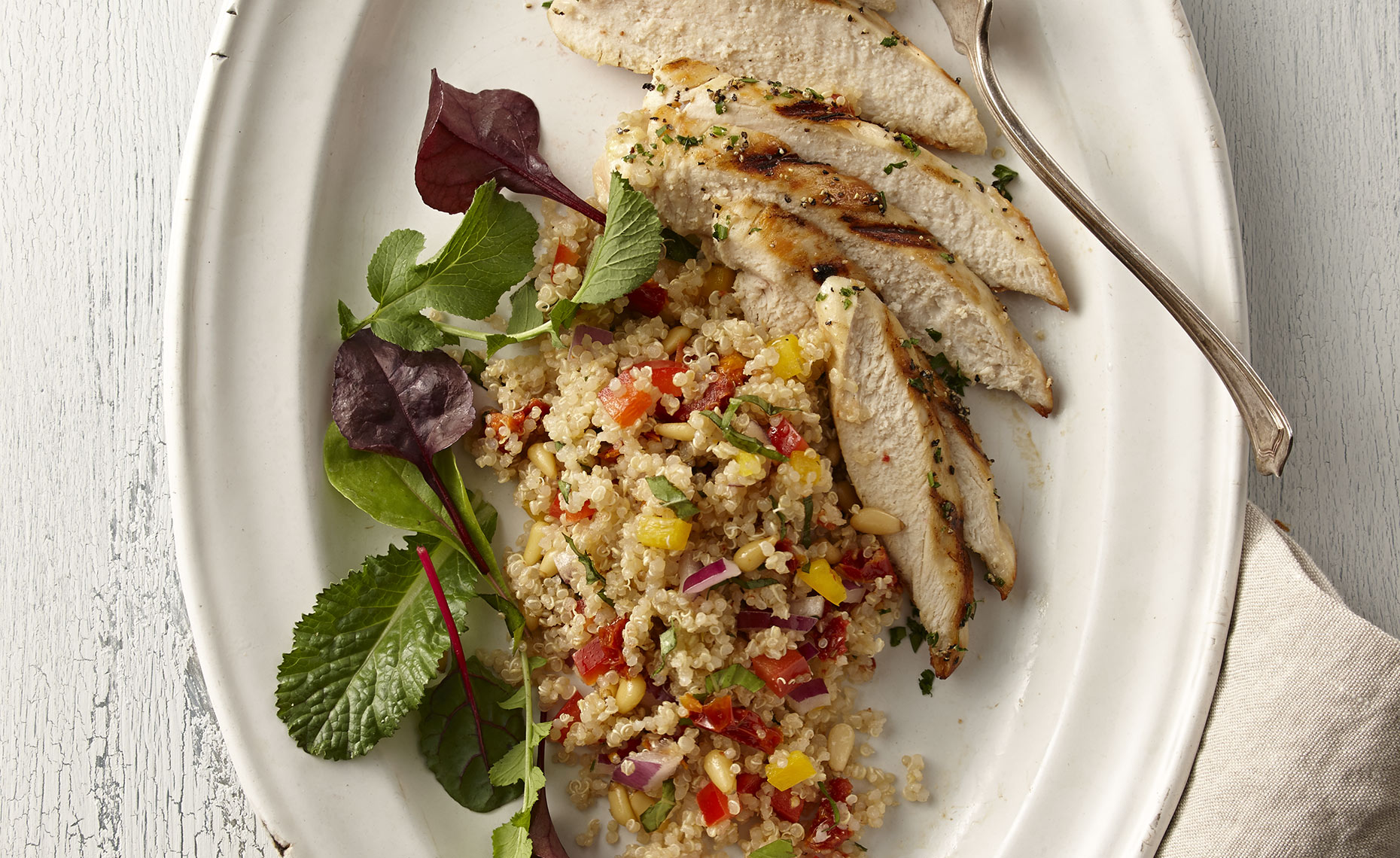Food Photographer,  Chicken Photography, Poultry Photography | Pohuski Studios,  Grilled Chicken Quinoa Salad